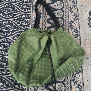 Kate Spade lime green bucket cinch bag
